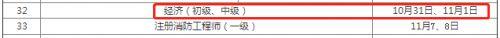 2020年江西初级经济师考试时间安排