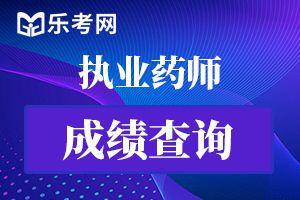 2020年北京执业西药师考试成绩查询时间