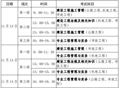 贵州2021年二级建造师第二批考试时间安排
